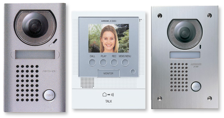 New aiphone jf 2med front door video intercom kit from for Front door video intercom