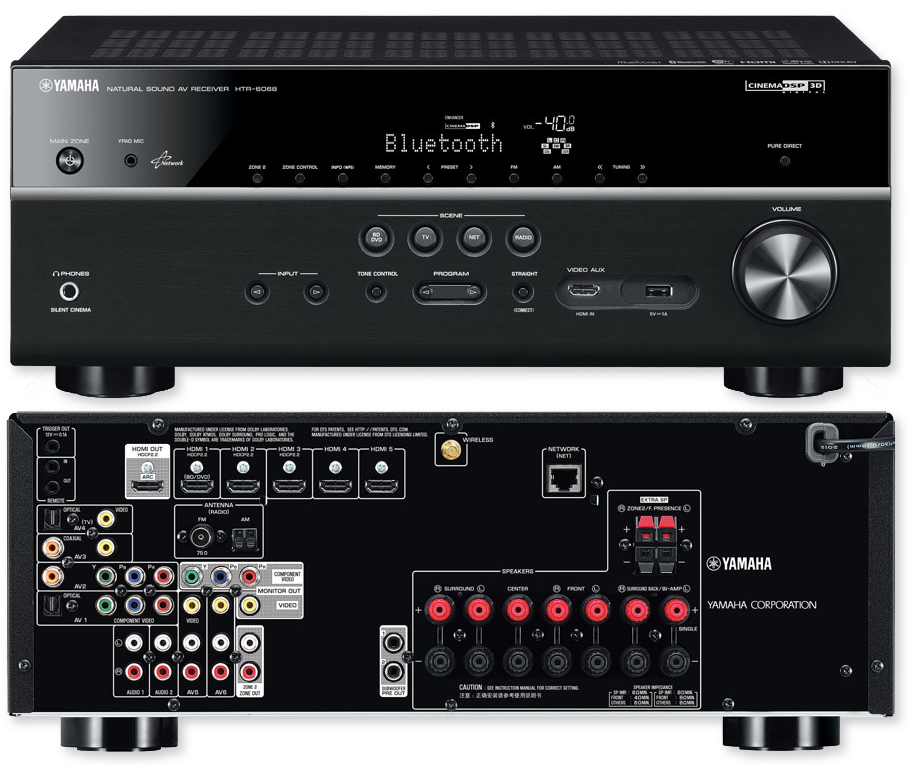Yamaha htr 6068 7 2 channel network av receiver for Yamaha multi zone receiver