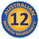 12 Month Australian Warranty